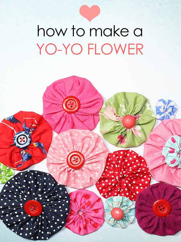 How To Make A Fabric Flower Yo Yo Easy Templates