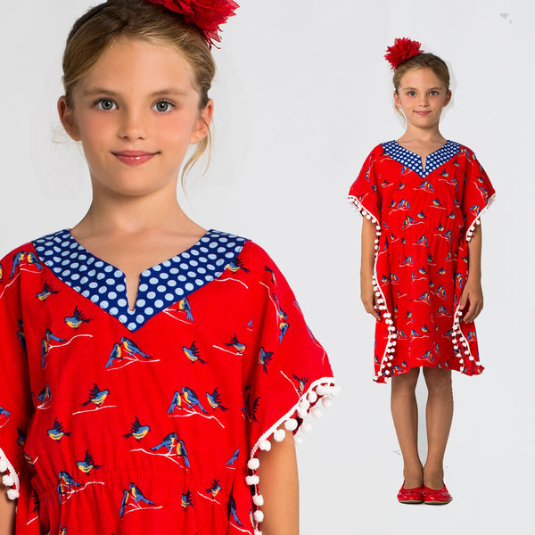 Girls Kaftan Dress and Top SewingPattern - Caftan – TREASURIE - My ...