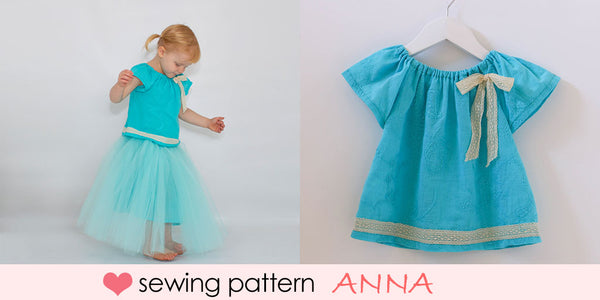 girls peasant top sewing pattern, baby peasant top sewing pattern