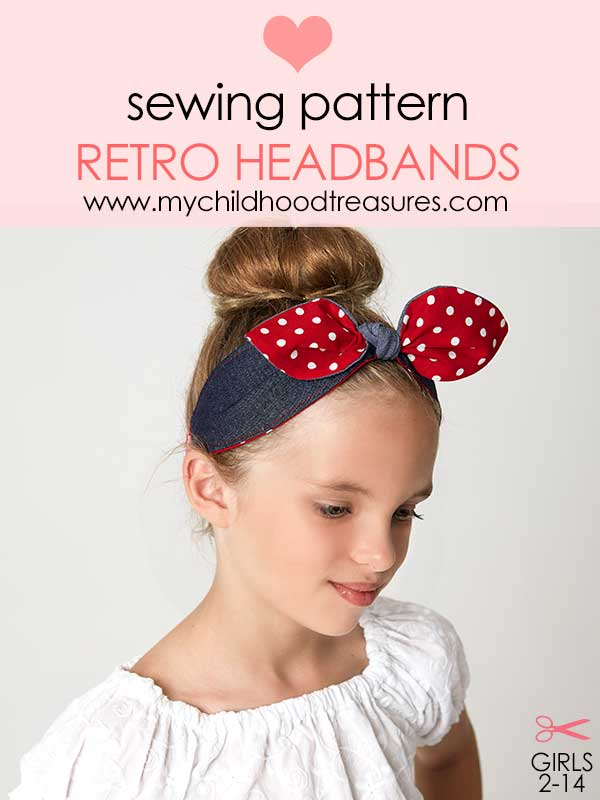 retro headband pattern, hairband pattern, headband sewing pattern