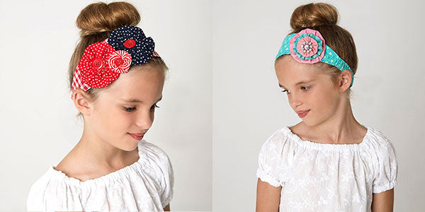 flower headband pattern, headband sewing pattern