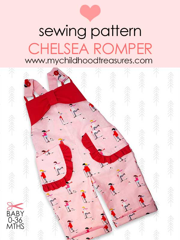 baby sewing pattern. romper pattern