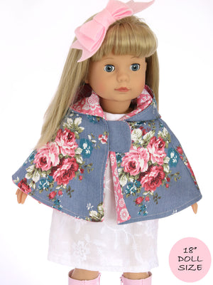 18 inch doll cape pattern
