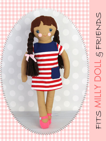 18 inch fabric doll sewing pattern