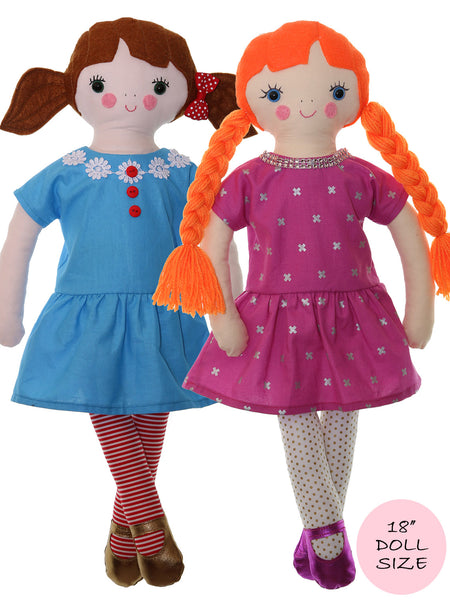 Milly 18 Inch Doll Pattern Fabric Doll Pattern Rag