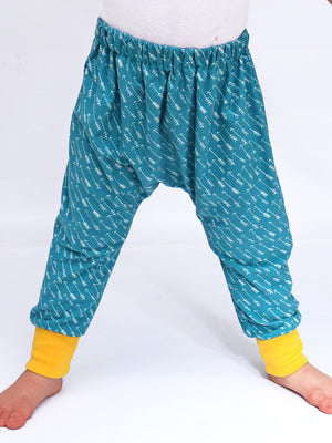 BAILEY - Unisex Boys/Girls Baggy Harem Pants Pattern - Stretch