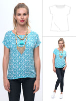 womens top pattern, cap sleeve top pattern