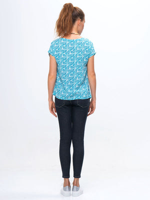 womens top pattern BACK, cap sleeve top pattern