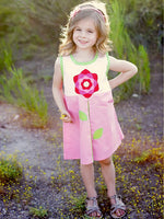 BELLA - Girls Dress Pattern - A-line, Flower Applique