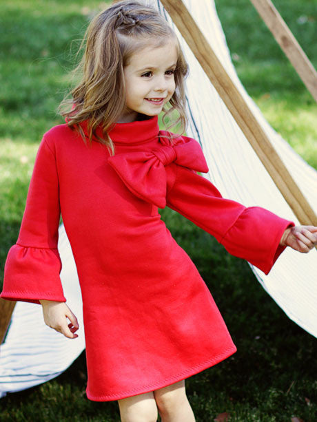 The Elke stretch dress girls digital downloadable PDF sewing pattern, children's clothing pattern