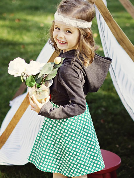 Bluebell stretch dress girls digital downloadable PDF sewing pattern, children's sewing pattern