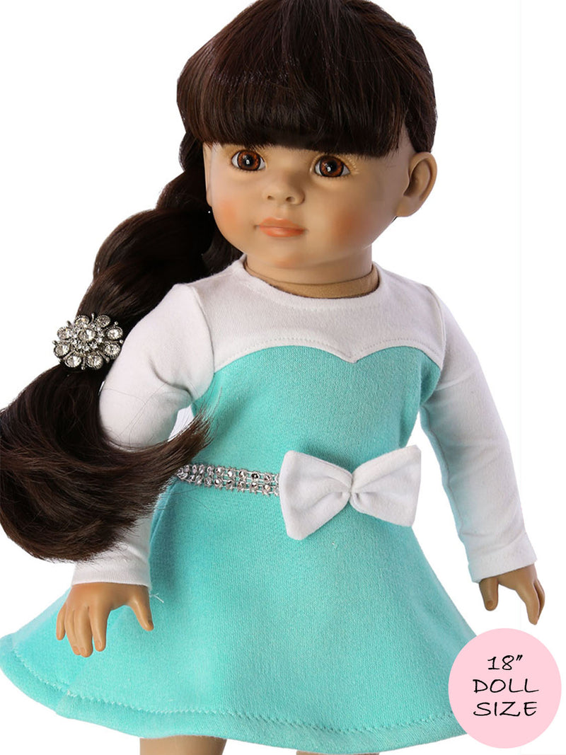 18 inch doll clothes patterns - ELISE DRESS (D1306)
