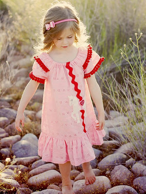 Carousel dress girls digital downloadable PDF sewing pattern, children's sewing pattern, peasant dress pattern