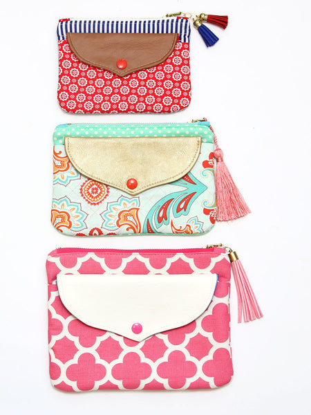 zip clutch sewing pattern