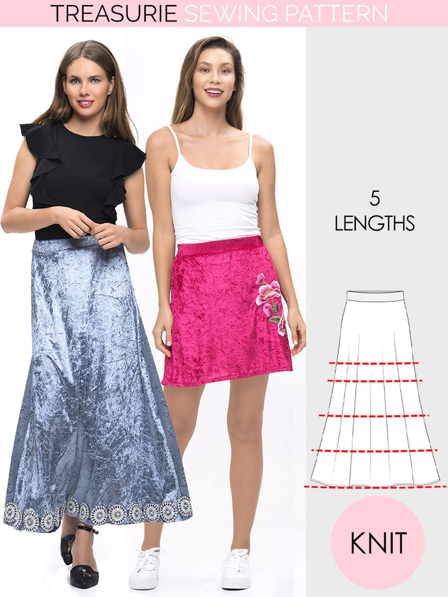womens skirt pattern stretch