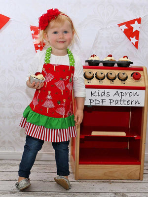 kids apron pattern, childrens apron pattern, apron sewing pattern