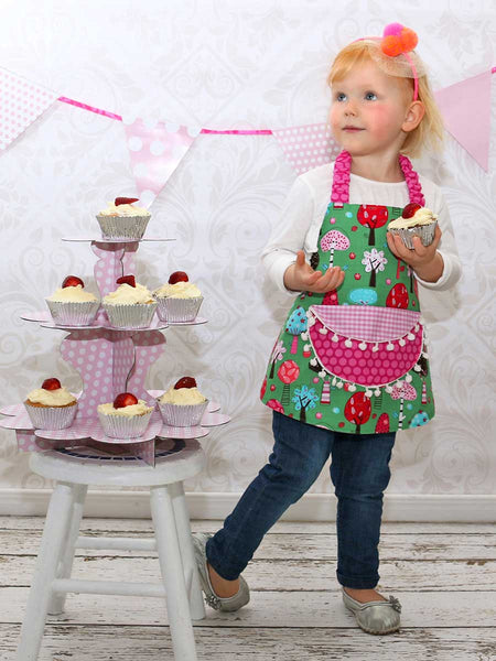 childrens apron pattern, kids apron pattern,  apron sewing pattern