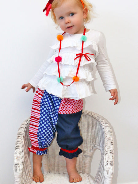 PATCHWORK PANTS - Baby and Toddler Bloomer Pants Sewing Pattern
