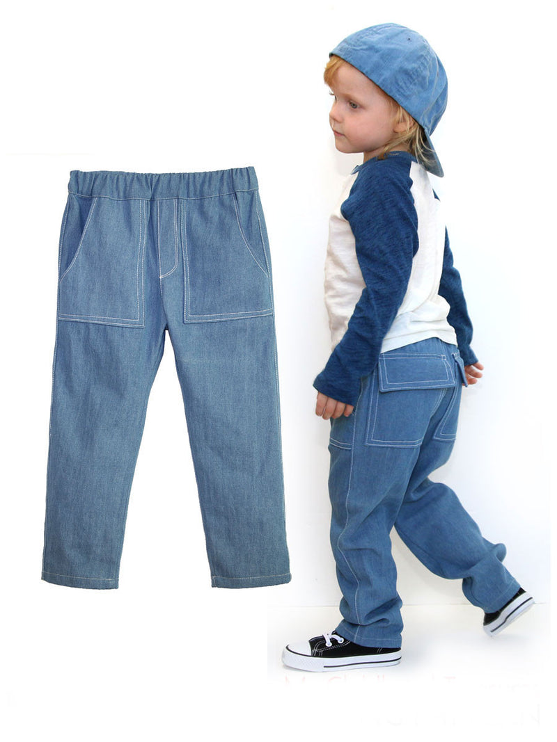 Boys Long Pants Sewing Pattern - BOYS PANTS (P305)