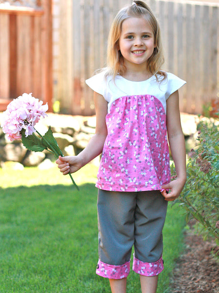 Jasmine Girls Dress & Top Sewing Pattern – TREASURIE - My Childhood ...