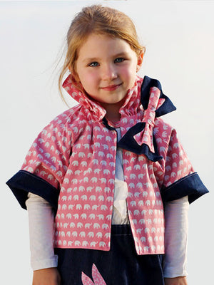 Reversible Jacket girls digital downloadable PDF sewing pattern, sew children's clothing pattern