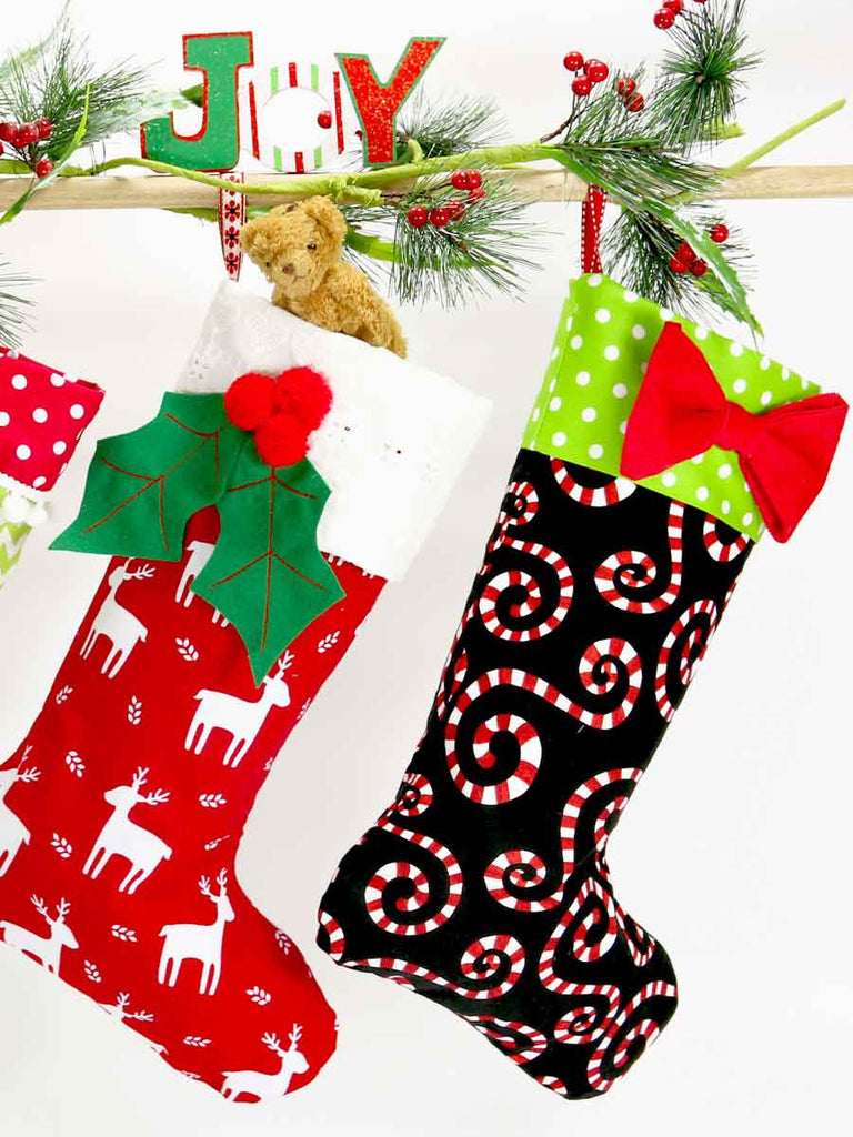 Christmas stocking sewing pattern treasurie my childhood treasures christmas stocking sewing pattern 4 sizes jeuxipadfo Gallery