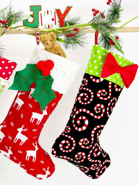 christmas stocking sewing pattern, christmas diy