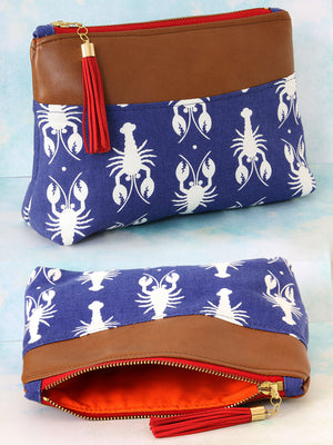 cosmetics clutch pattern, purse pattern