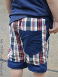 Boys Shorts Sewing Pattern - CUFFED (P303)