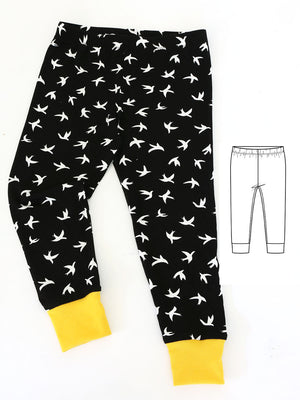leggings pattern with cuffs