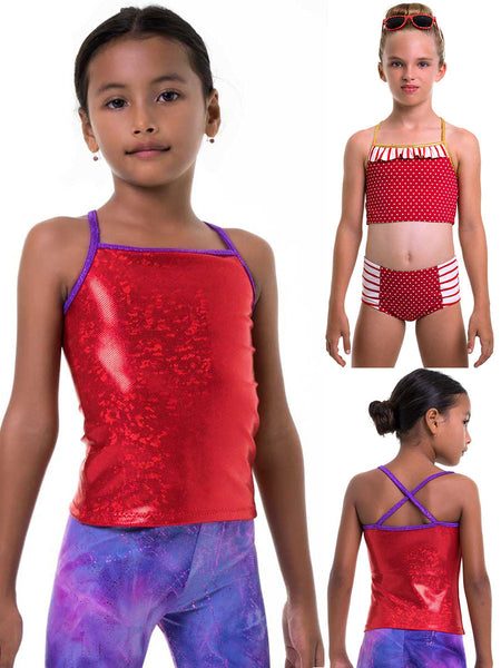 Tops Pattern - Girls Gym & Dance -  4 styles (S506)