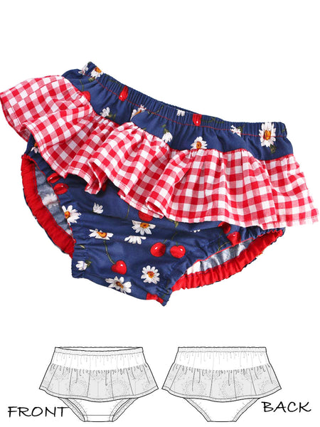 ruffle diaper cover pattern, baby sewing pattern