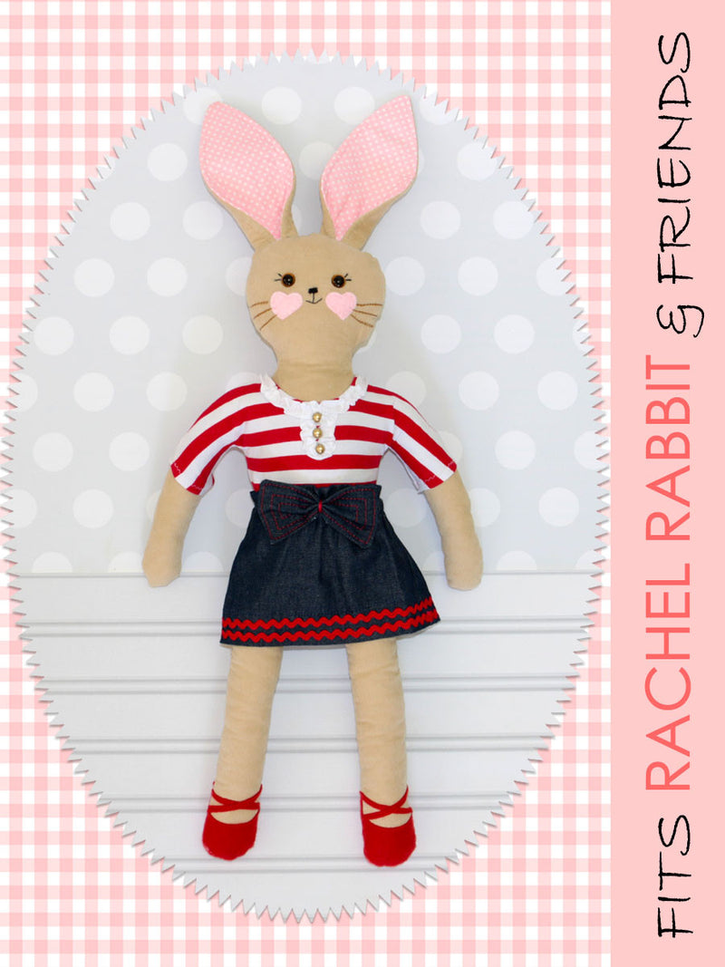 18 inch doll tshirt sewing pattern