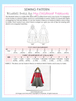 BLUEBELL - Girls Dress Pattern - Stretch
