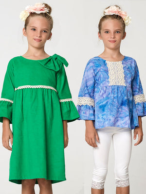 girls dress pattern, girls top pattern