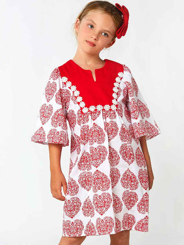 ANNA - Girls Peasant Dress Patterns - 3 sleeve options