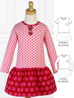 girls stretch dress pattern