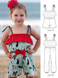 girls romper pattern