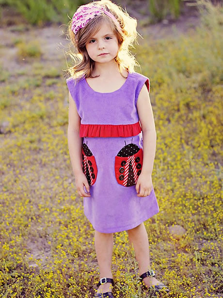 Lucy dress girls digital downloadable PDF sewing pattern, children's clothing pattern