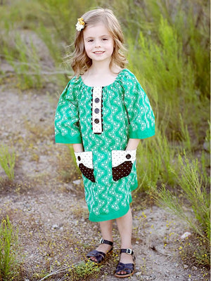 Poppy dress girls digital downloadable PDF sewing pattern, learn to sew children's clothing