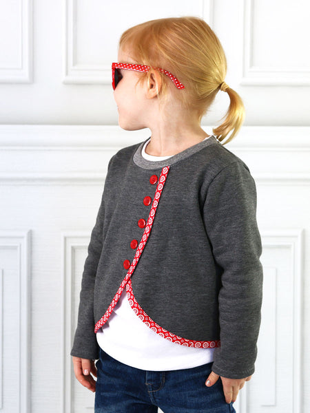 MOLLY - Girls Sweater Sewing Pattern - Stretch