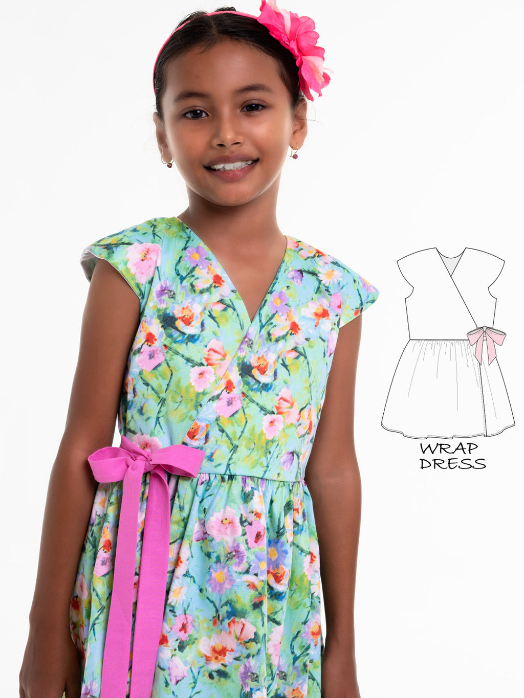 girls wrap dress pattern