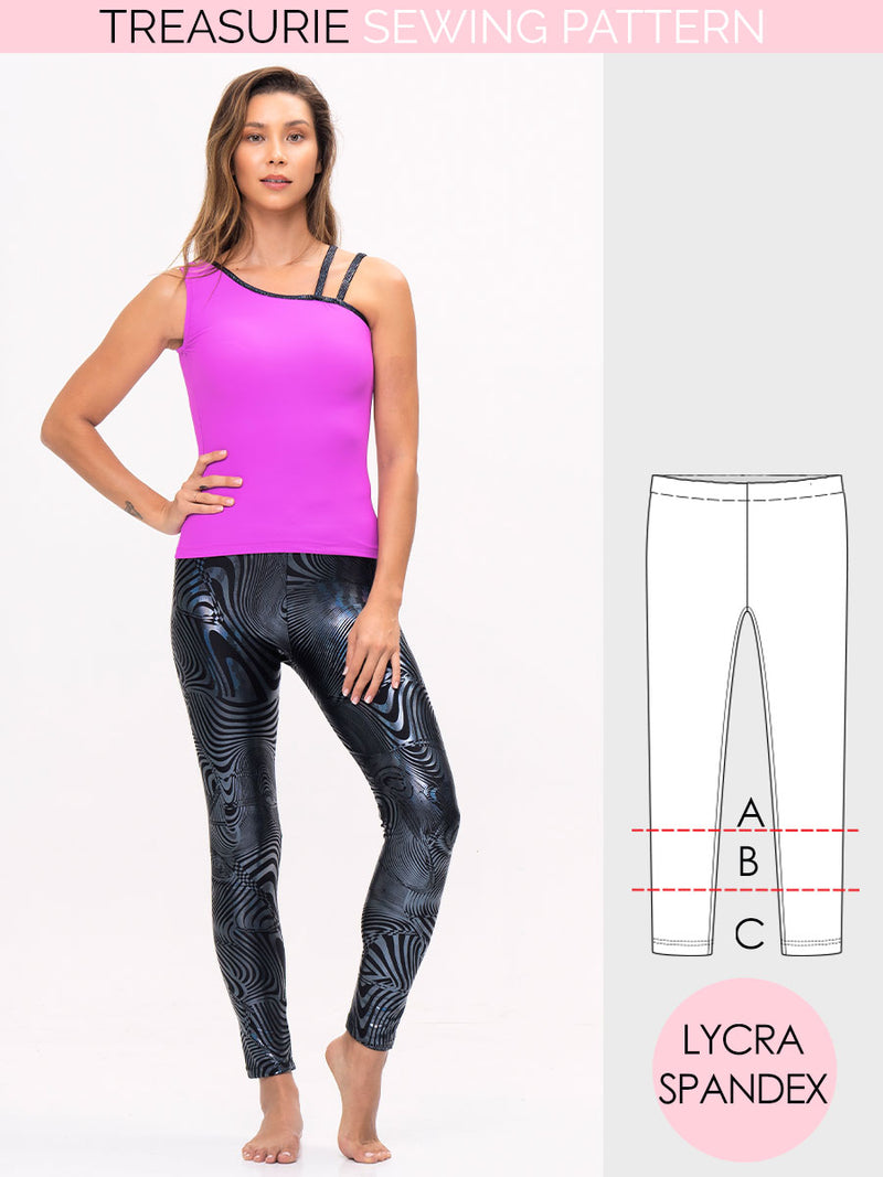 dance leggings pattern, gym leggings pattern