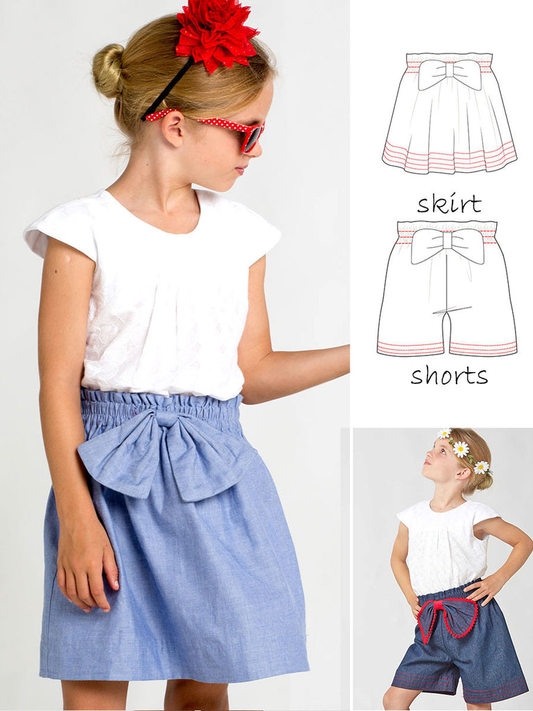 Paisley Skirt & Shorts Childrens Sewing Pattern – TREASURIE - My ...