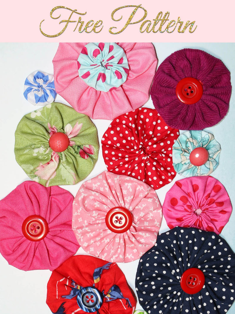 yo-yo fabric flowers