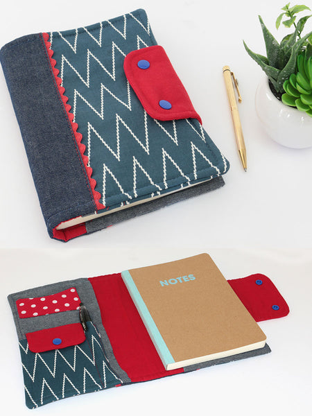(B900) Padded Journal Cover Pattern, Diary Cover Sewing Pattern