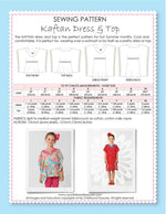 girls sewing pattern, kaftan sewing pattern by MCT
