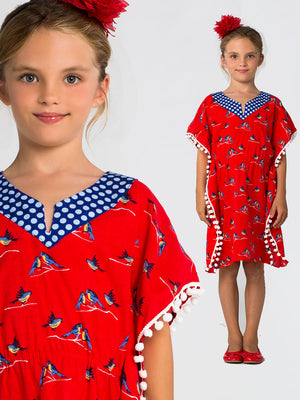 girls sewing pattern, kaftan sewing pattern
