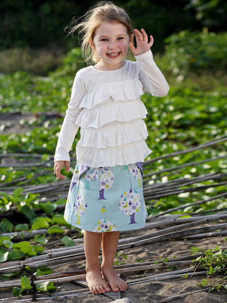 MADISON - Girls Reversible Wrap Skirt Sewing Pattern