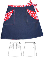 girls wrap skirt pattern